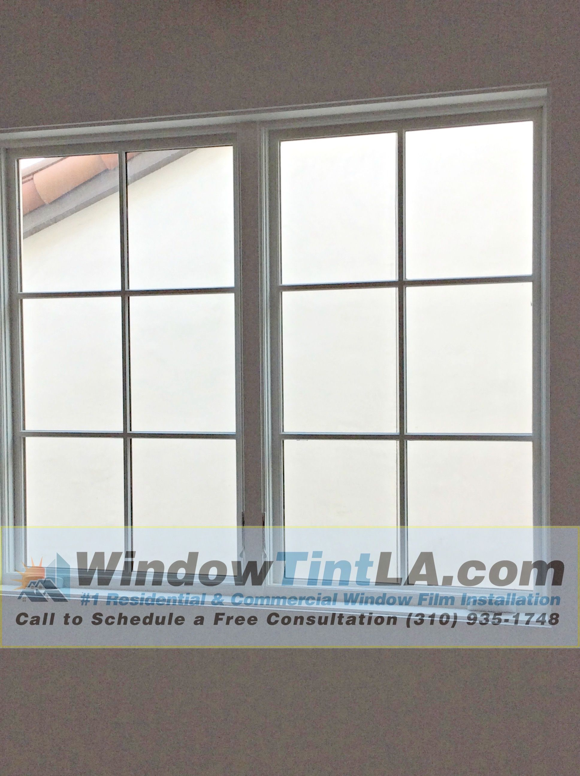 After Frost Film Has Been Installed In Los Angeles Home
