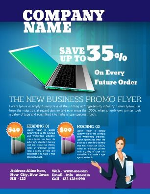 General business flyer to promote any new business it is perfect general business flyer to promote any new business it is perfect for product or service promotion easy to personalize to fit your companys needs wajeb Choice Image