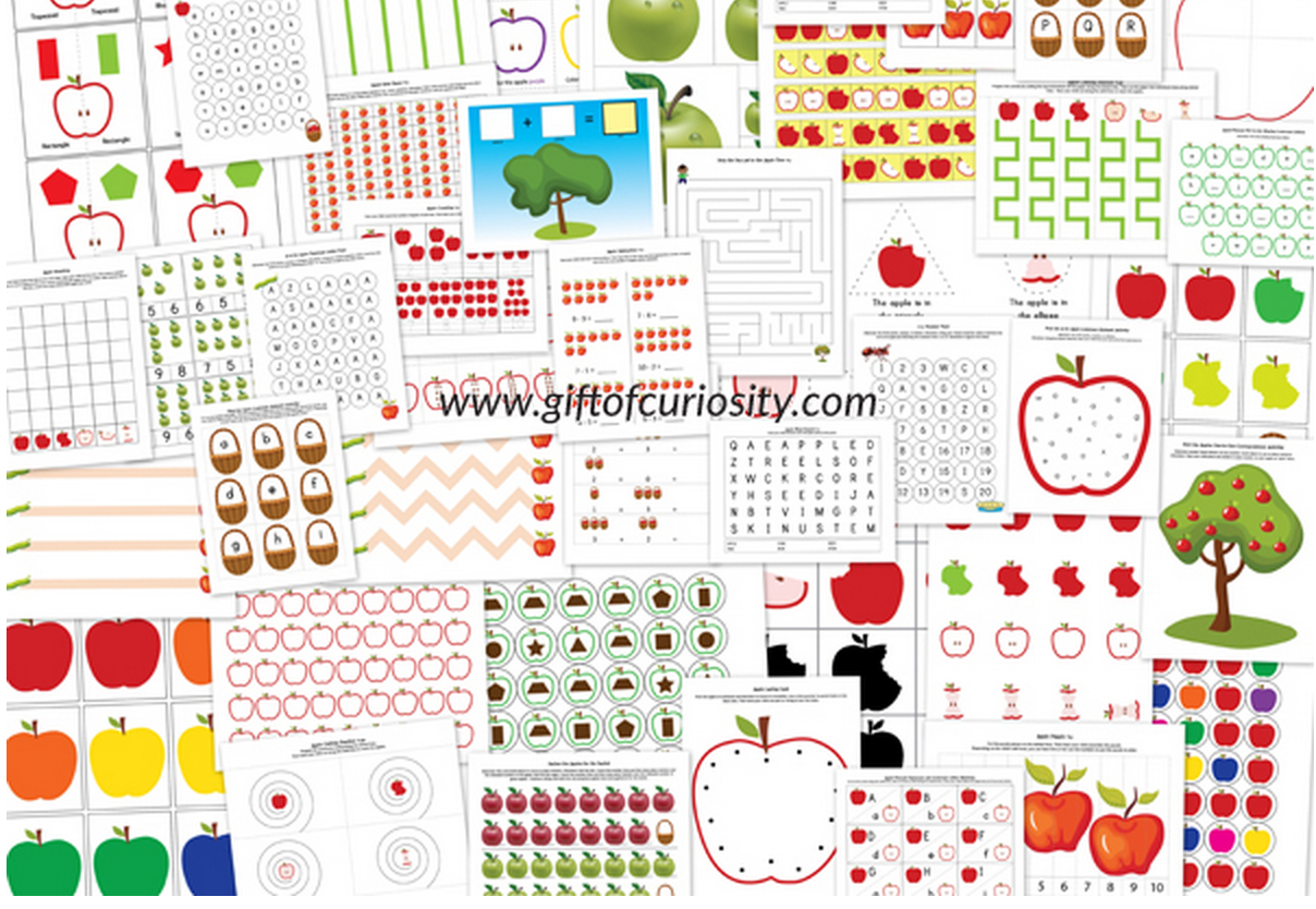 Apple Printable Pack For Ages 2 7
