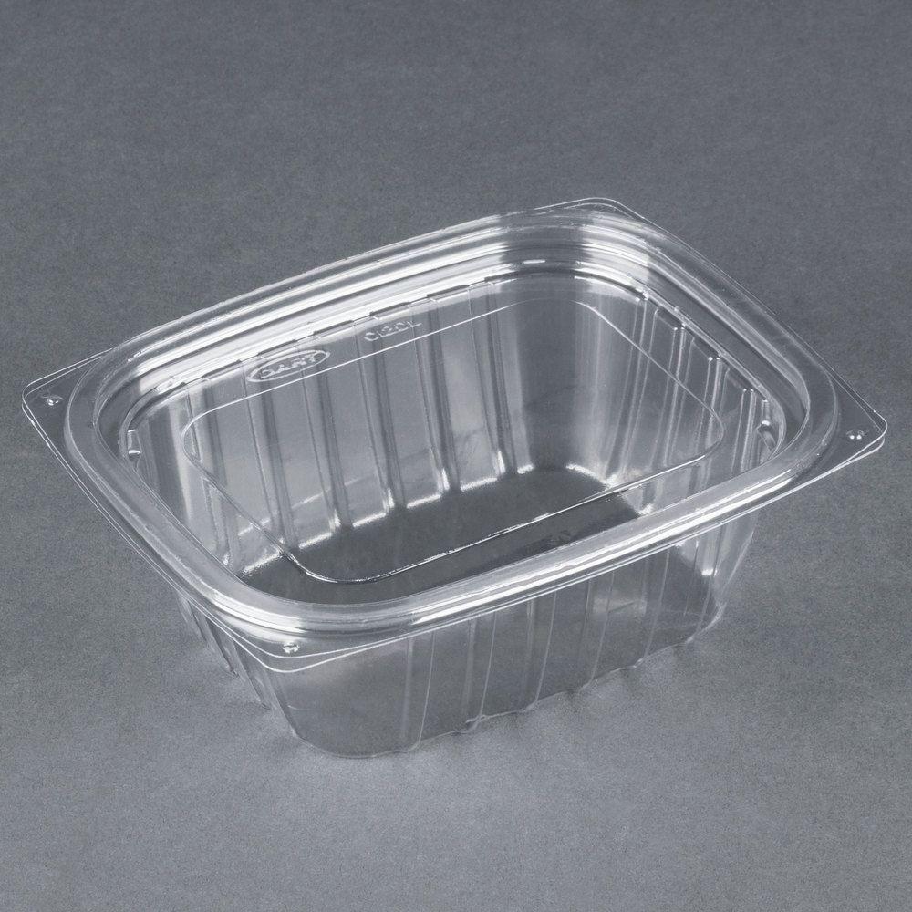 Dart c12dcpr clearpac 12 oz clear rectangular plastic