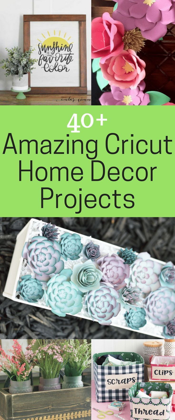 40+ of the BEST Cricut Home Décor Projects - Clarks Condensed