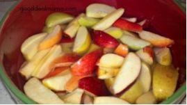DIY bagged apple slices