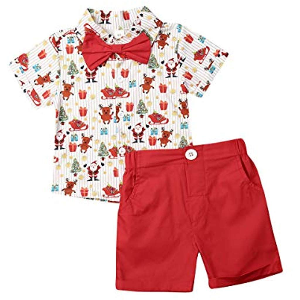 Dinlong Newborn Baby Girls Clothes One Shoulder Ruffles Top T Shirt+Denim Shorts Pants Set