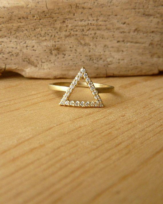Triangle Diamond Ring by kateszabone on Etsy