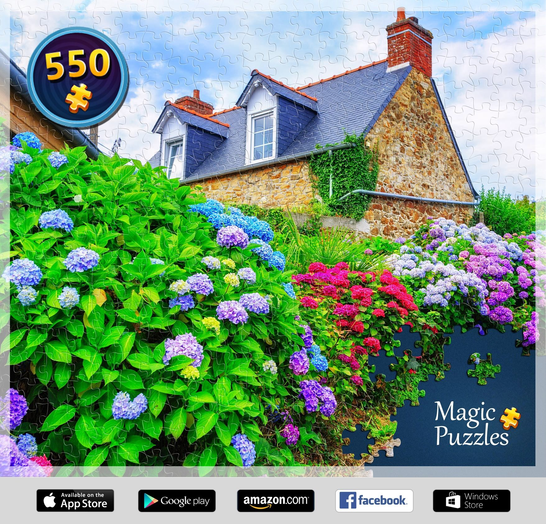 I've just solved this puzzle in the Magic Jigsaw Puzzles ...