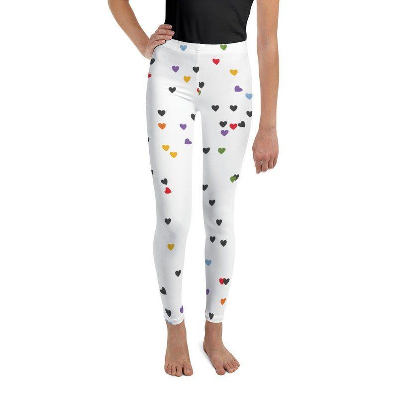 XS-XL Black Yoga Leggings with Bitsy White Stars High Waist Leggings Star Leggings