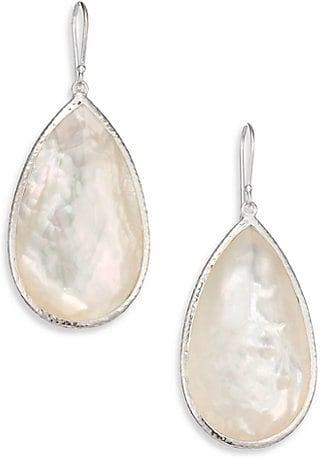 de26c6d2af90b7 Rock Candy Mother-Of-Pearl, Clear Quartz & Sterling Silver Doublet Pear  Drop Earrings #earrings #jewelry