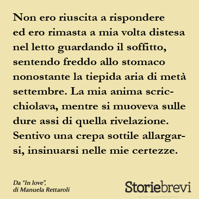 Manuela Rettaroli, In love