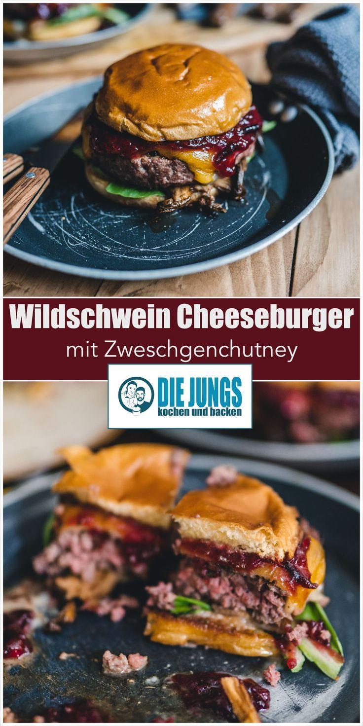 Wildschwein-Cheeseburger mit Zwetchgenchutney | Rezept | Foodblog