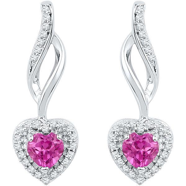 0 162ctw Diamond 0 60ct Lab Created Pink Sapphire Earring