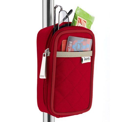 Juvo Products CW202 Cane Caddy, Red by Juvo. $22.95. Front panel slim pocket for credit card, loose change, train or bus pass. Caddy measures 6? h x 3? w x 1.5? d. Easy open zippered compartment opens from bottom so contents don?t fall out. Back of caddy snaps onto cane connector in seconds. Comes with snap-fit cane connector. Caddy your cane with a snap! The cane caddy is a simple carry-all that snap-fits on most standard canes to hold your daily essentials.  The cane caddy's...