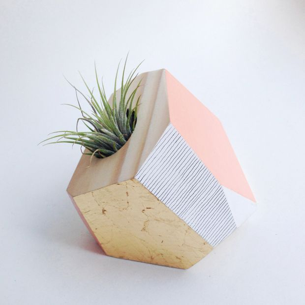 Hand-Painted Wooden Planters by FlaneursPocket
