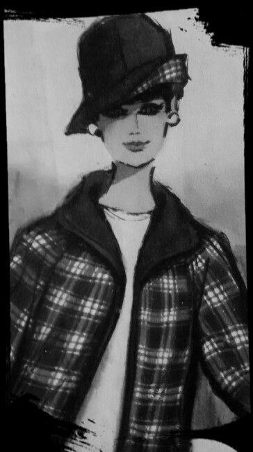 Ilustracion moda vintage