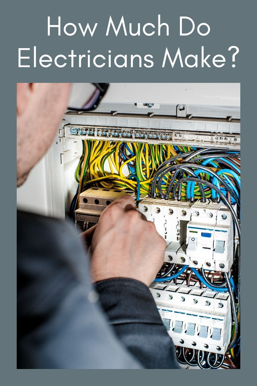 An electrician is a tradesperson. They gain their