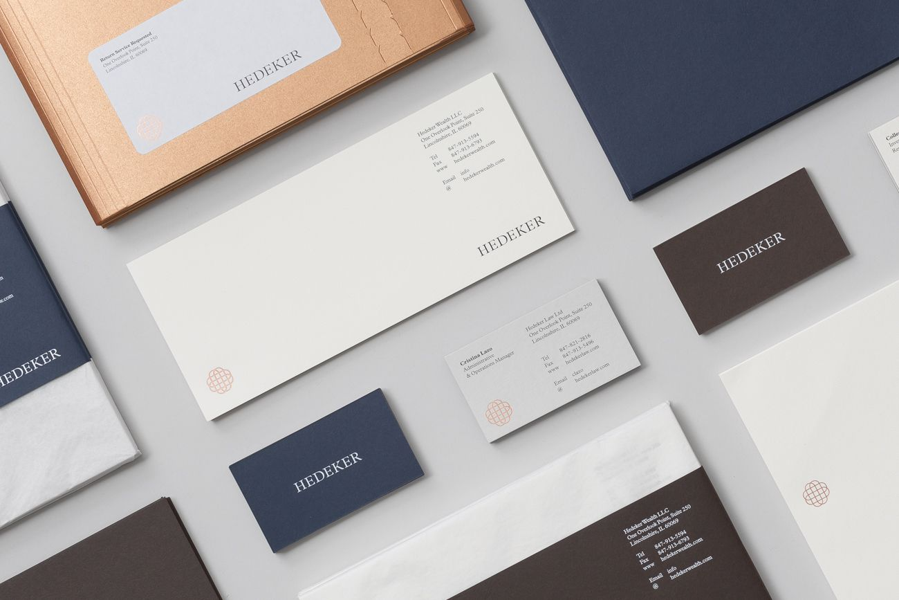 New brand identity for hedeker by socio design bpo wealth logo headed paper and business cards for illinois based hedeker wealth law by socio design colourmoves