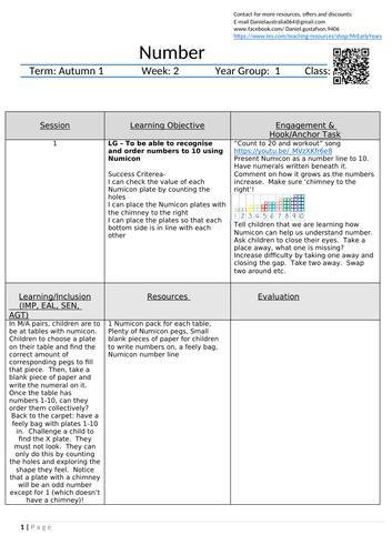 Year 1 Maths (Number) 5 Lesson Plans part 2 | Lesson plans ...