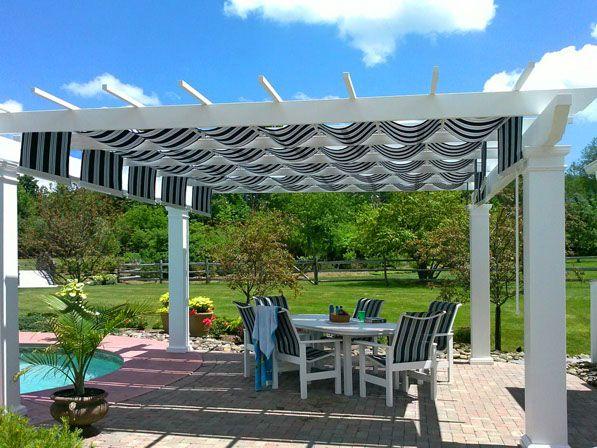 Low Maintenance Pergola Kits By Trex With Shadetree Canopies Pergola Pergola Patio Canopy Outdoor