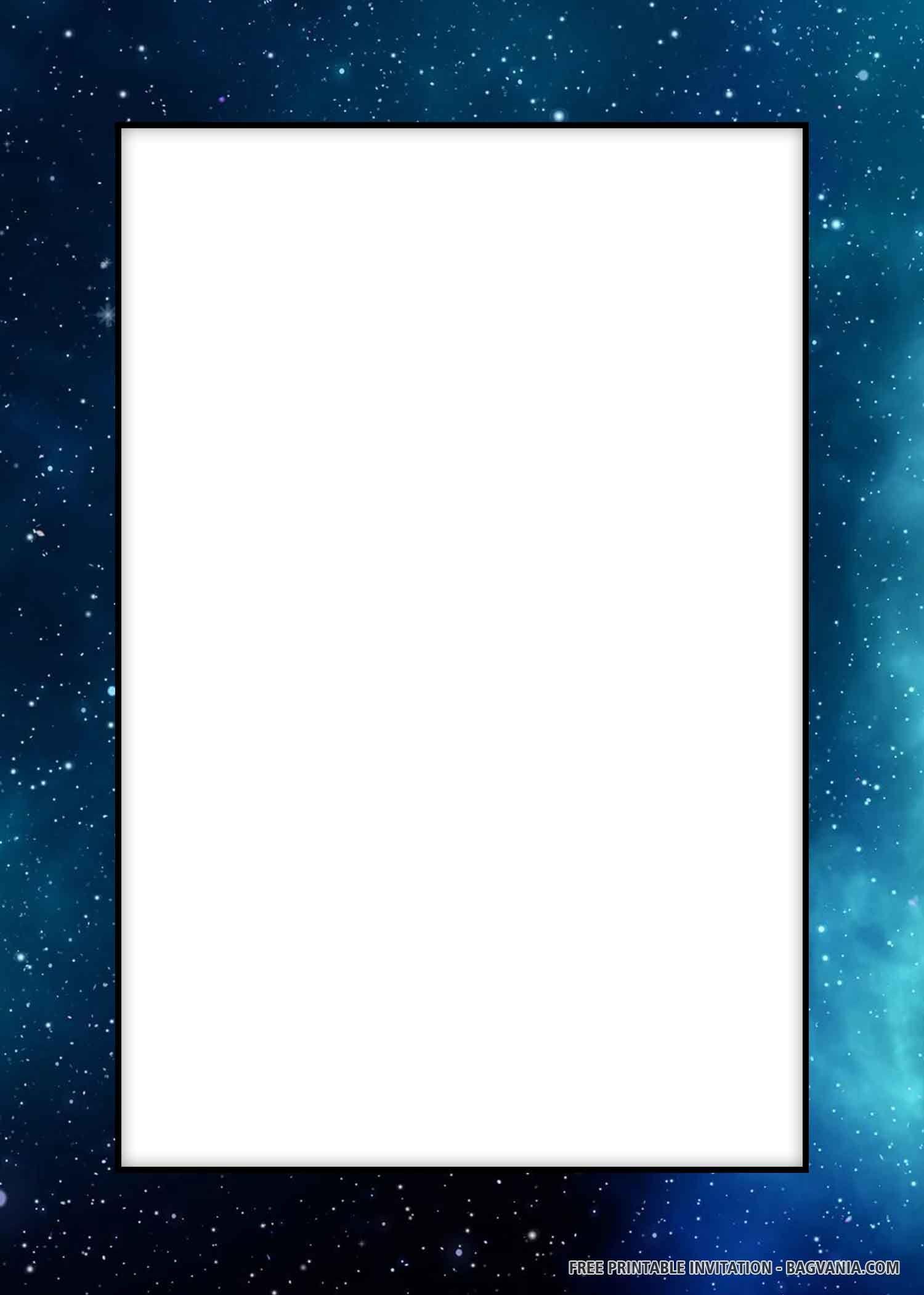FREE PRINTABLE) – Amazing Galaxy Birthday Invitation Templates