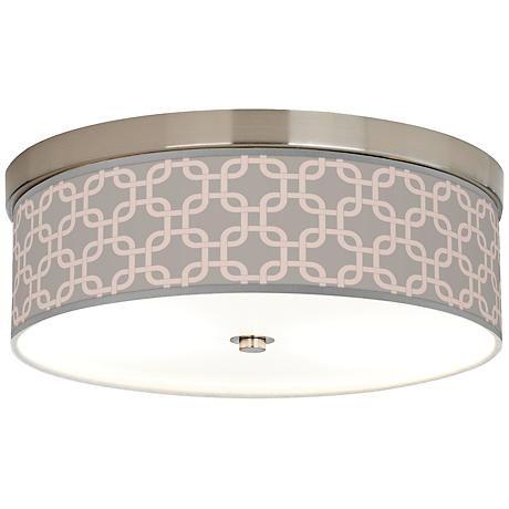 Smoke Lattice Giclee Energy Efficient Ceiling Light
