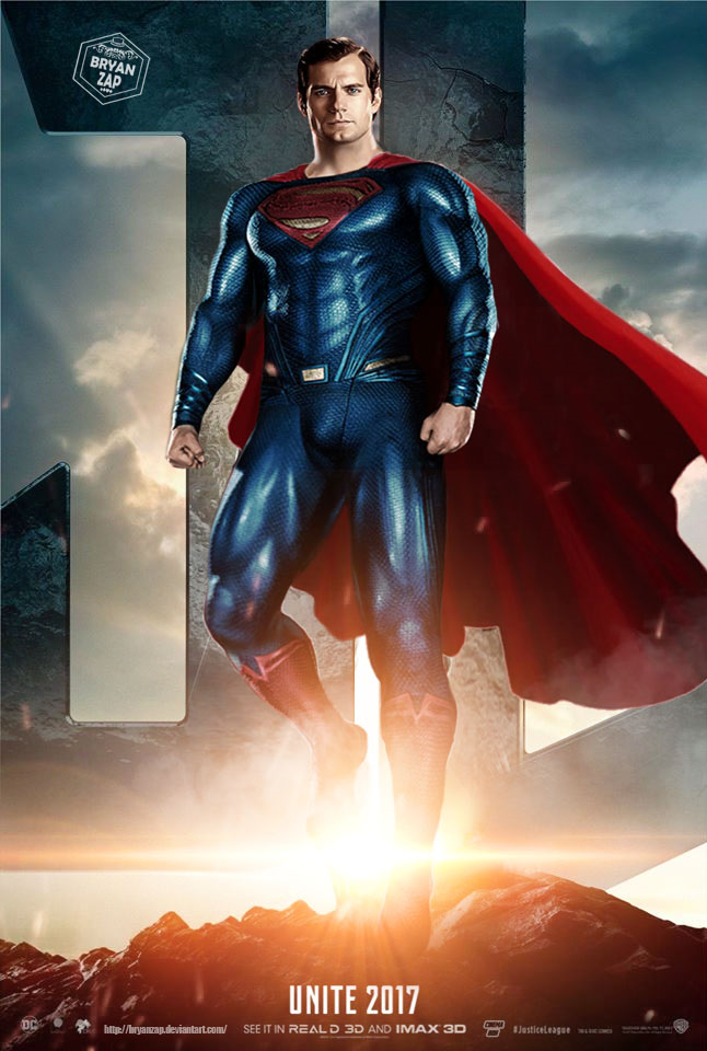 superman justice league poster by bryanzap superman