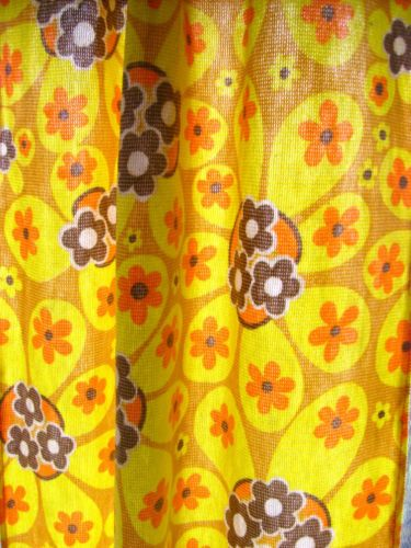 synthetic 1960s curtain fabric