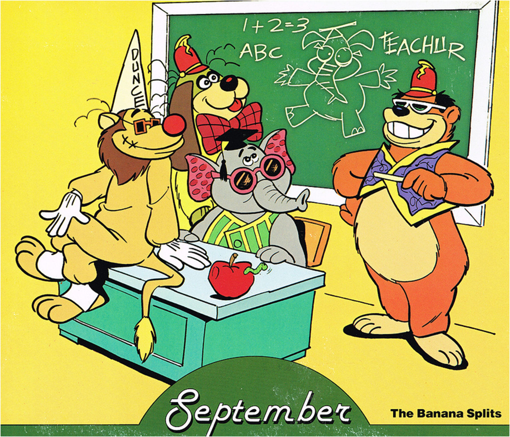 September Hanna Barbera Calendar Cover Caricaturas