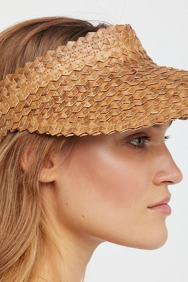 Island Hopper Straw Visor   free people   1870ee862cfa