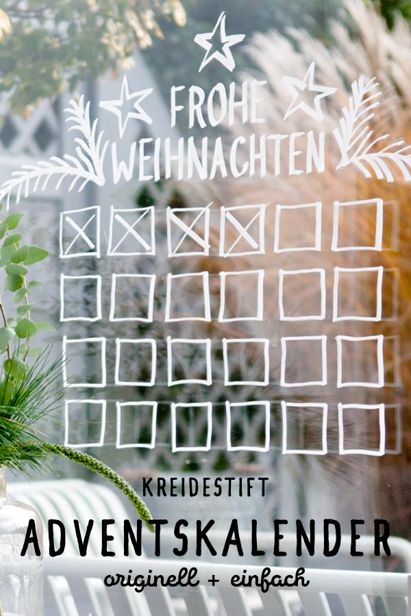 DIY Adventskalender mit Kreidemarkern