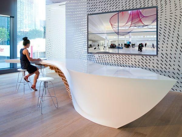 Empfangsraum Kunden gestalten Tisch Studio E Martinez Insp - innovativer schaukel esstisch spas