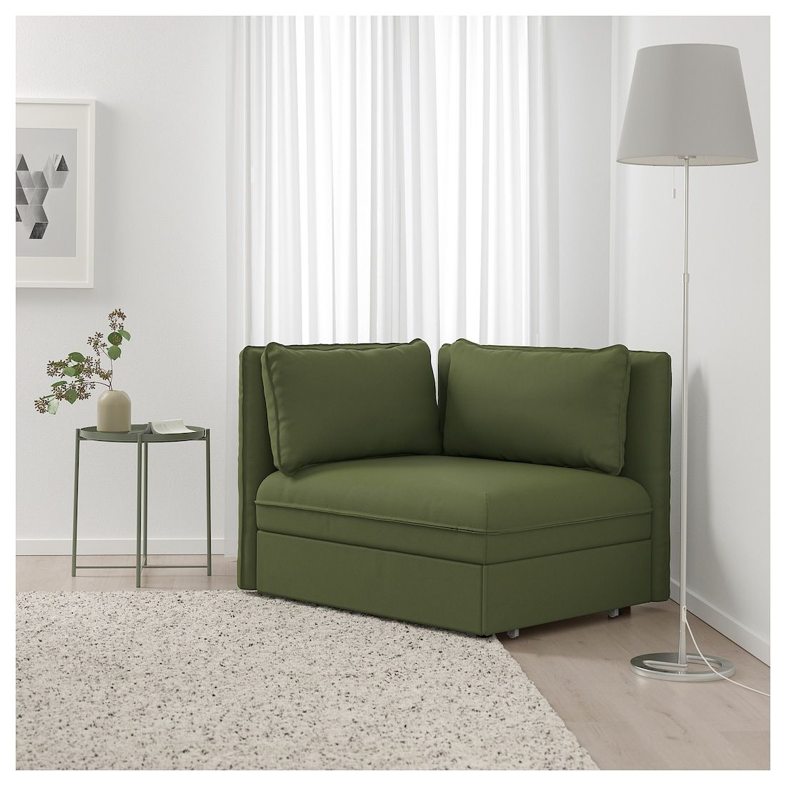 Vallentuna Sofa Bed Module With Backrests Ramna Olive Green