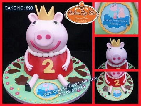 peppapig 3D cake Kids Birthday cake Pinterest 3d cakes