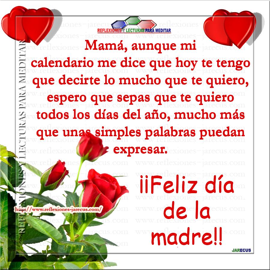 Feliz día mamá, te quiero mucho | Reflexiones día de la ...