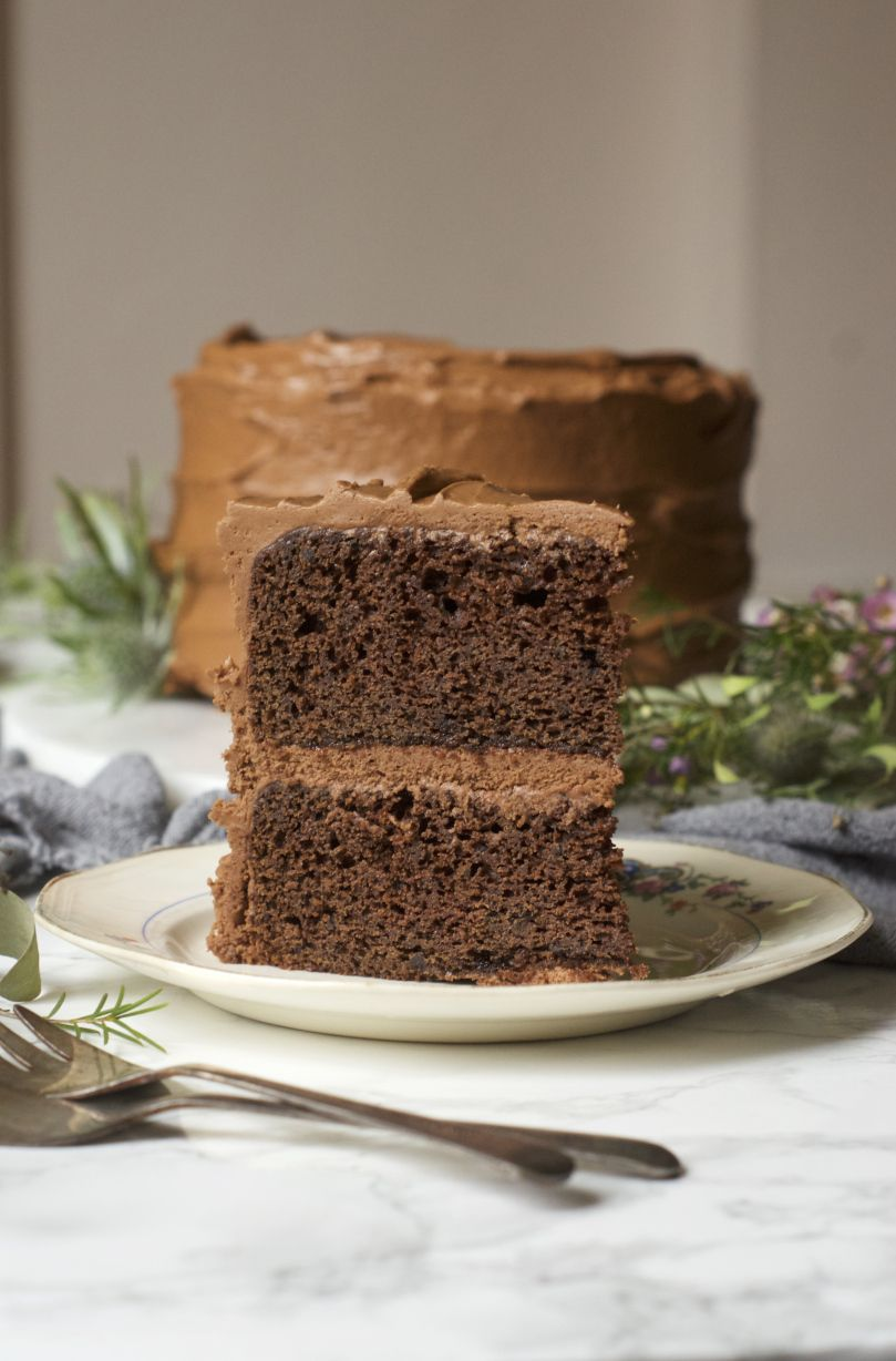 Chocolate cake for one or two tastes midwest nice