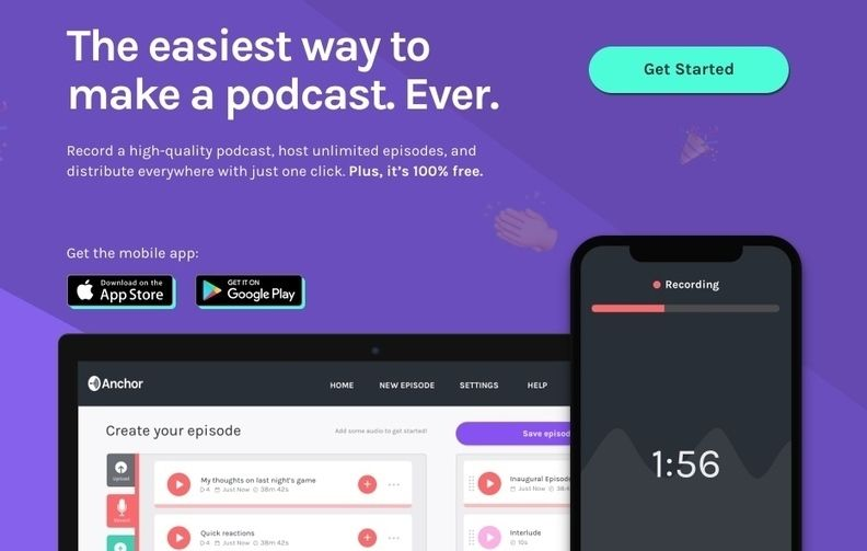 Anchor. Le moyen le plus simple de créer des podcasts