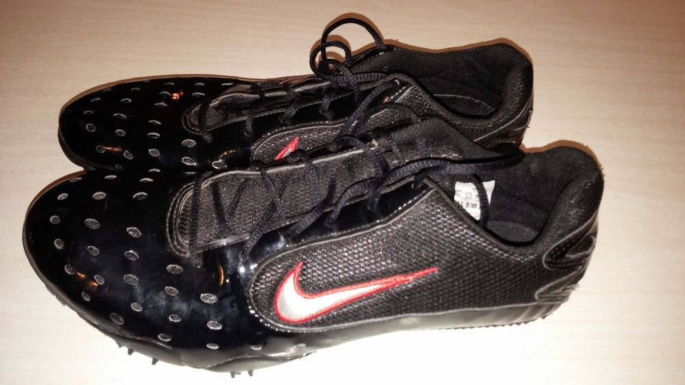 NIKE ZOOM 2VL TRACK FIELD SHOES Spikes Cleats Bowerman Black Red Gray 10.5   Nike  Cleats 53d825498