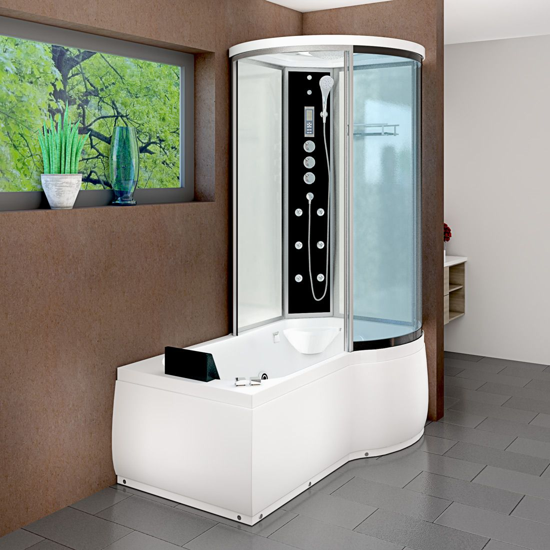 Badezimmer ideen whirlpool acquavapore dtpws whirlpool badewanne dusche duschkabine