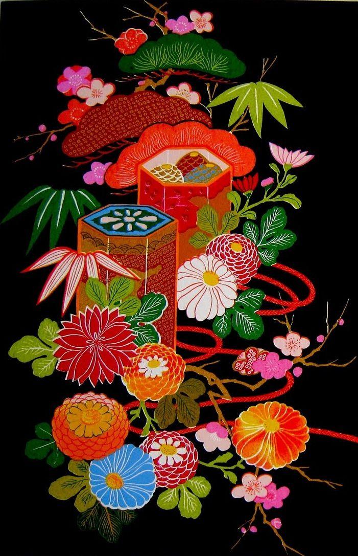 Japanese floral motif ...
