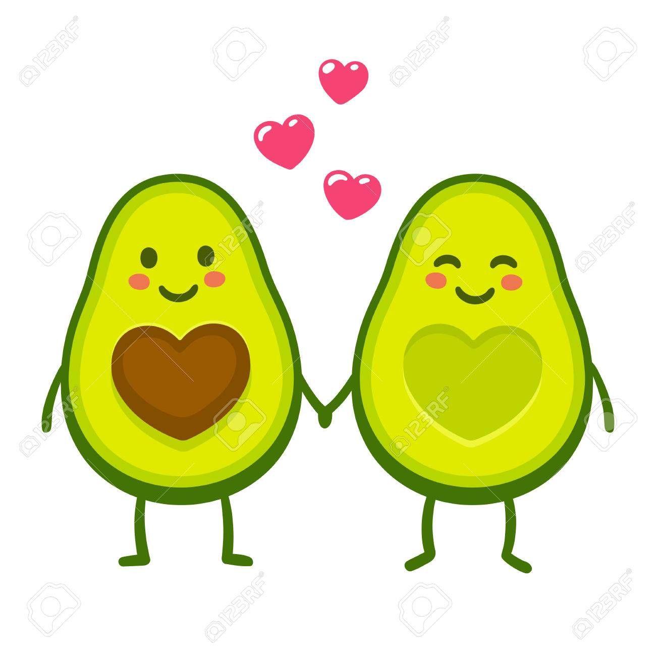 Funny Avocado Clipart Cute Disney Drawings Avocado Cartoon Cute Avocado