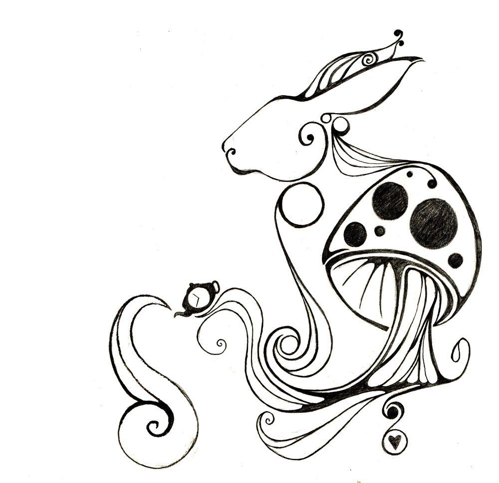 Alice In Wonderland White Rabbit Drawing Alice's Adventure's  New