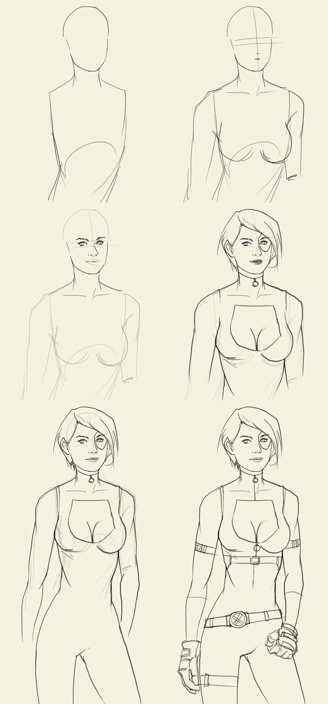 how to draw a female superheros (9)