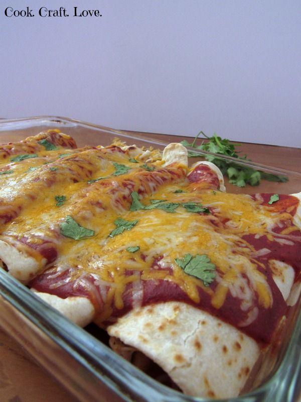 Easy Chicken Enchiladas - Cook. Craft. Love.