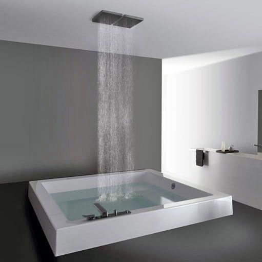 Innenarchitektur badezimmer moderne wanne mit dusche decke for Innenarchitektur badezimmer