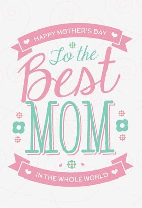 word mother s day card template
