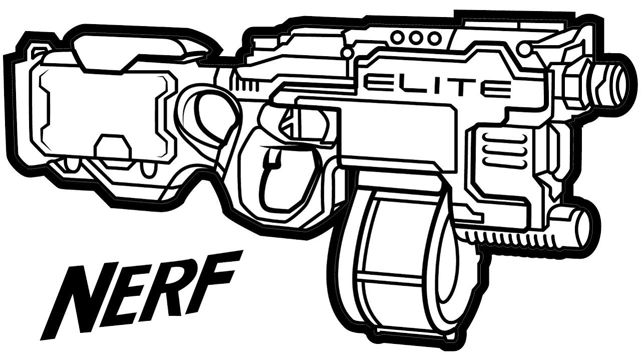 Rival Nerf Gun Coloring Pages Machine