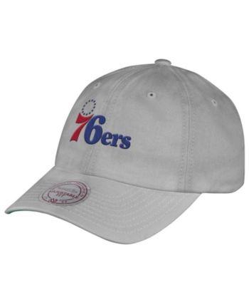 meet cdb30 e12dc Mitchell   Ness Philadelphia 76ers Hardwood Classic Basic Slouch Cap - Gray  Adjustable