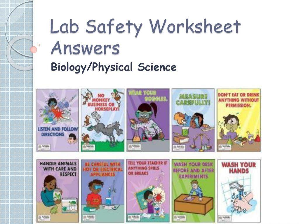Lab Safety Cartoon Worksheet Ppt Lab Safety Worksheet Answers Powerpoint Presentation Kids Worksheets Printables Lab Safety Safety Cartoon