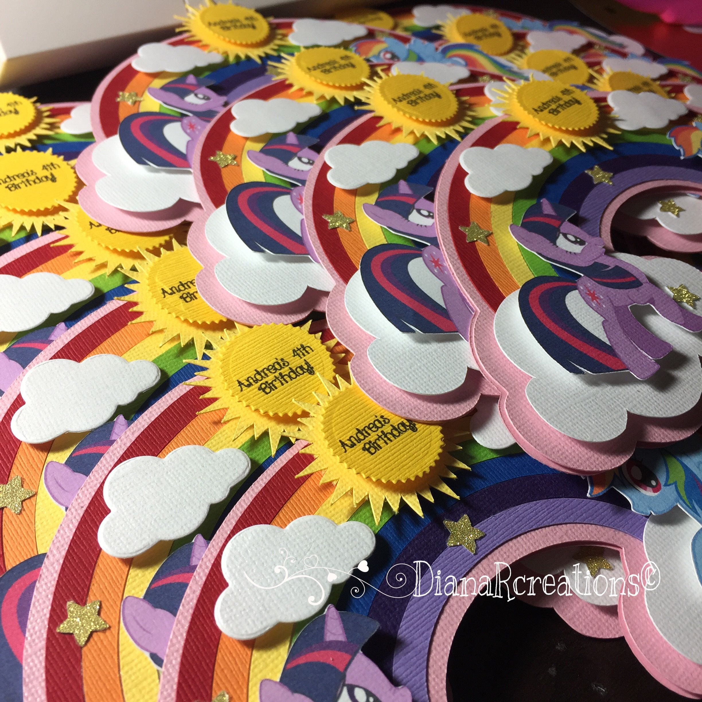 My little pony birthday invitations dianarcreations handmade