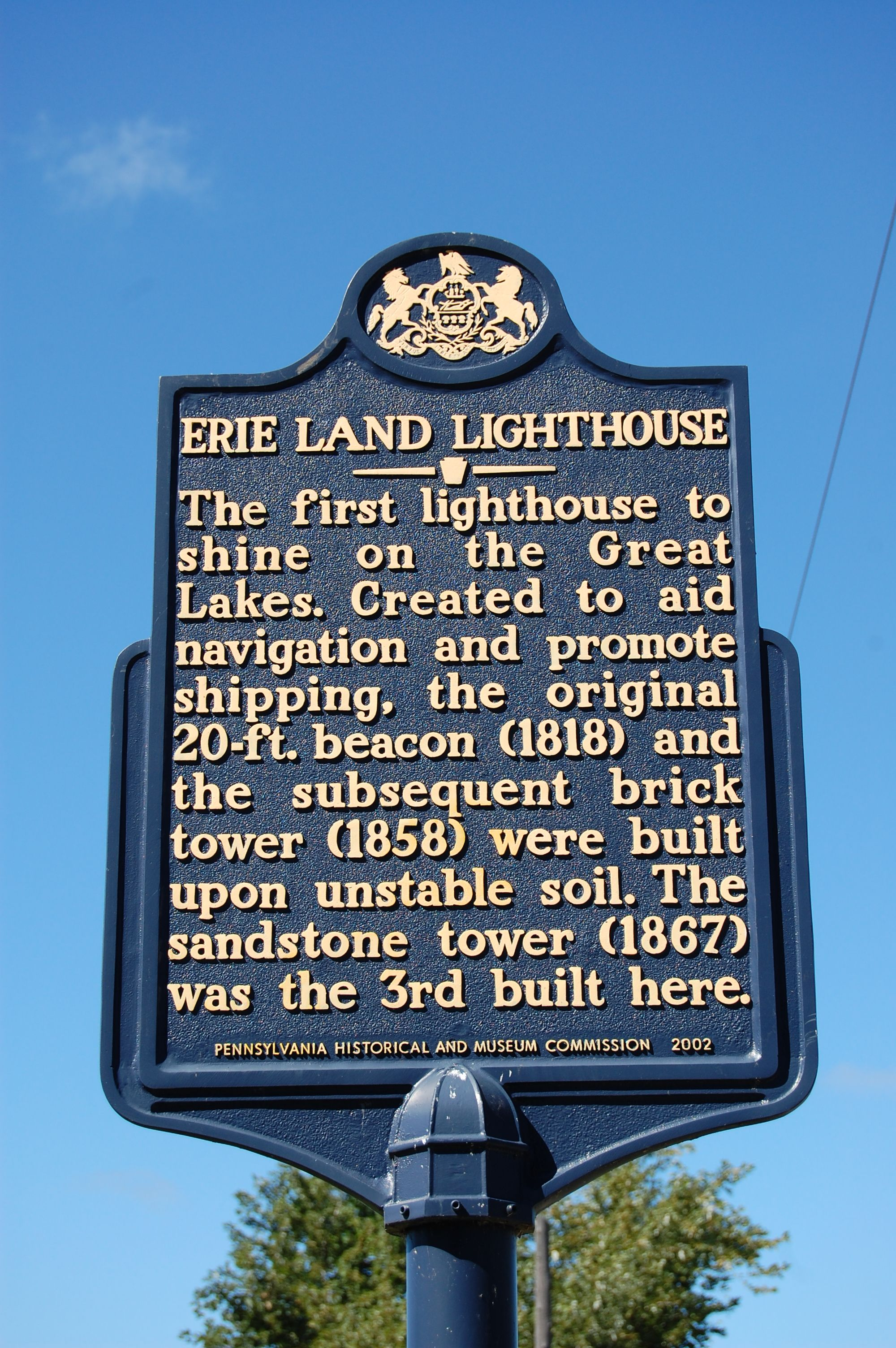 Erie Land Lighthouse Presque Isle State Park Pennsylvania