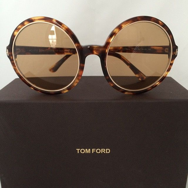 36537ac0a0 Tom Ford Sunglass Model  Carrie vintage round sunglasses. Color  Havana.  Condition  very good.