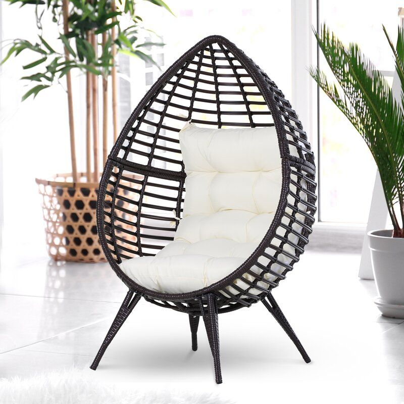 Wicker Patio Chair With Cushions In 2020 Wicker Patio Chairs Rattan Lounger Patio Seating